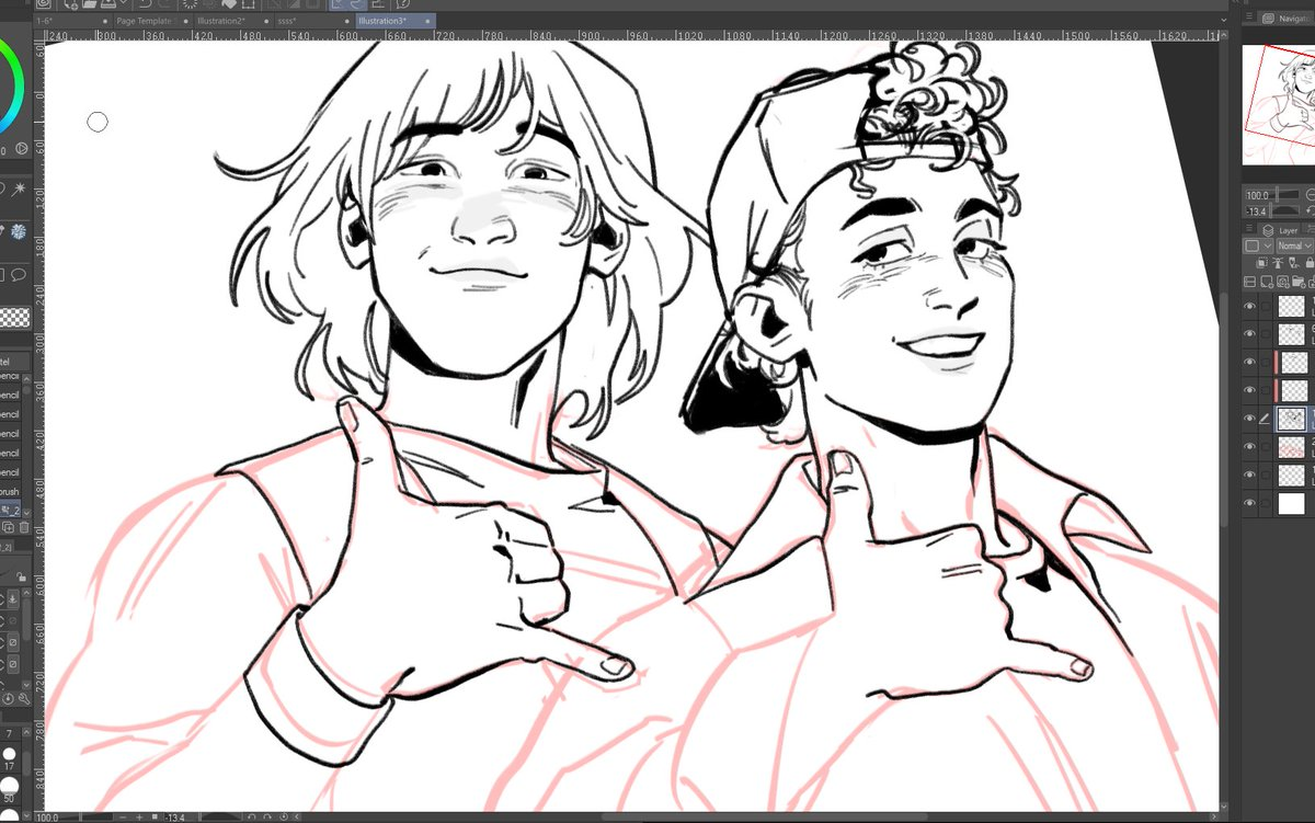 bill & ted redraw doodle. haven't drawn anything for over a month so im rly rusty 💦