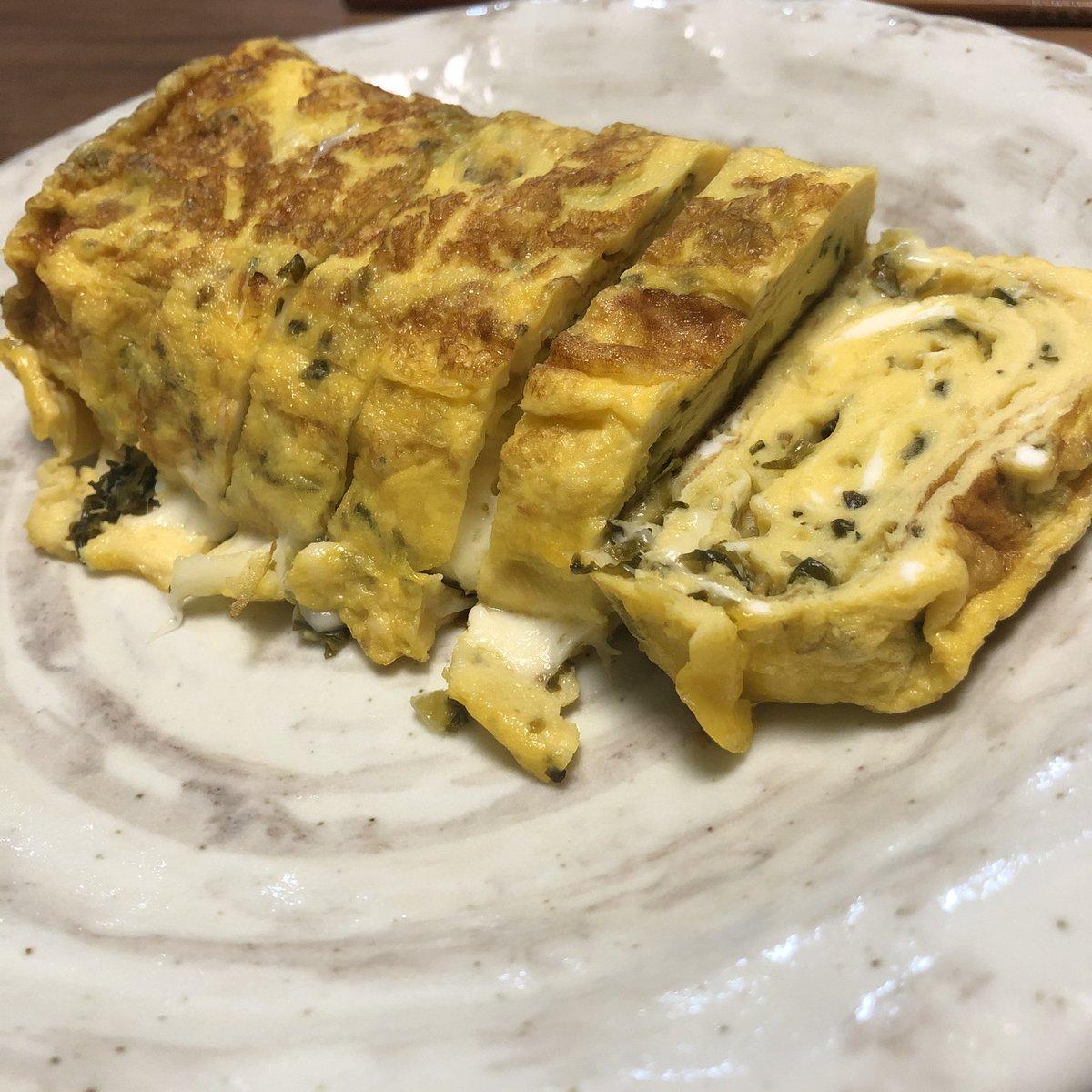 test ツイッターメディア - チーズ🧀高菜inだし巻き  が上手くできたのと  オイシックスの金目鯛と菜花の 炊き込みご飯🌸  の宣伝✨  #オイシックス https://t.co/g5x8LJd4EJ