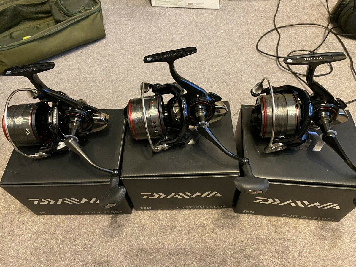 Ad - Daiwa Cast'izm 25QDA Reels x3 On eBay here -->> https://t.co/Ct1Dl5MrTq  #carpfishing htt