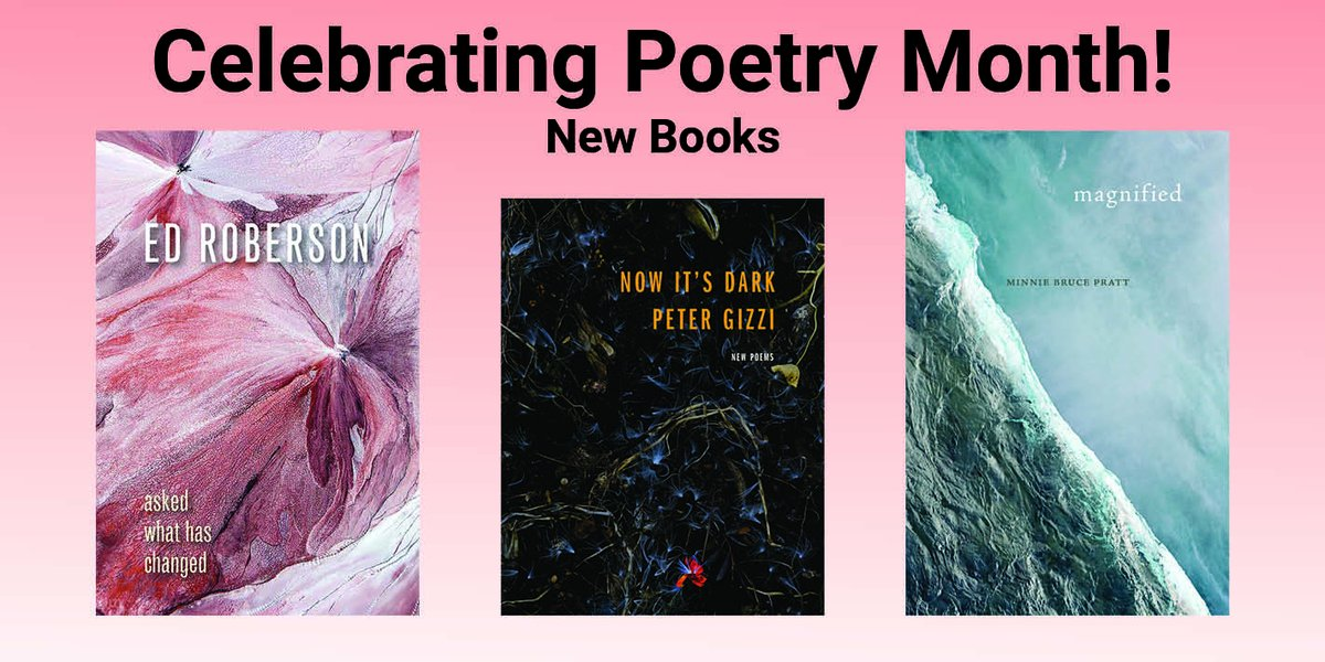 test Twitter Media - Celebrate #PoetryMonth with new books by Minnie Bruce Pratt, Ed Roberson, Peter Gizzi and more! Don't miss our new books. Order using discount code Q301 and receive 30% off. Check out more titles here: https://t.co/PYStc9iph5 #poetry #BlackPoets #WomenPoets #QueerPoets https://t.co/HgcpnF71wc