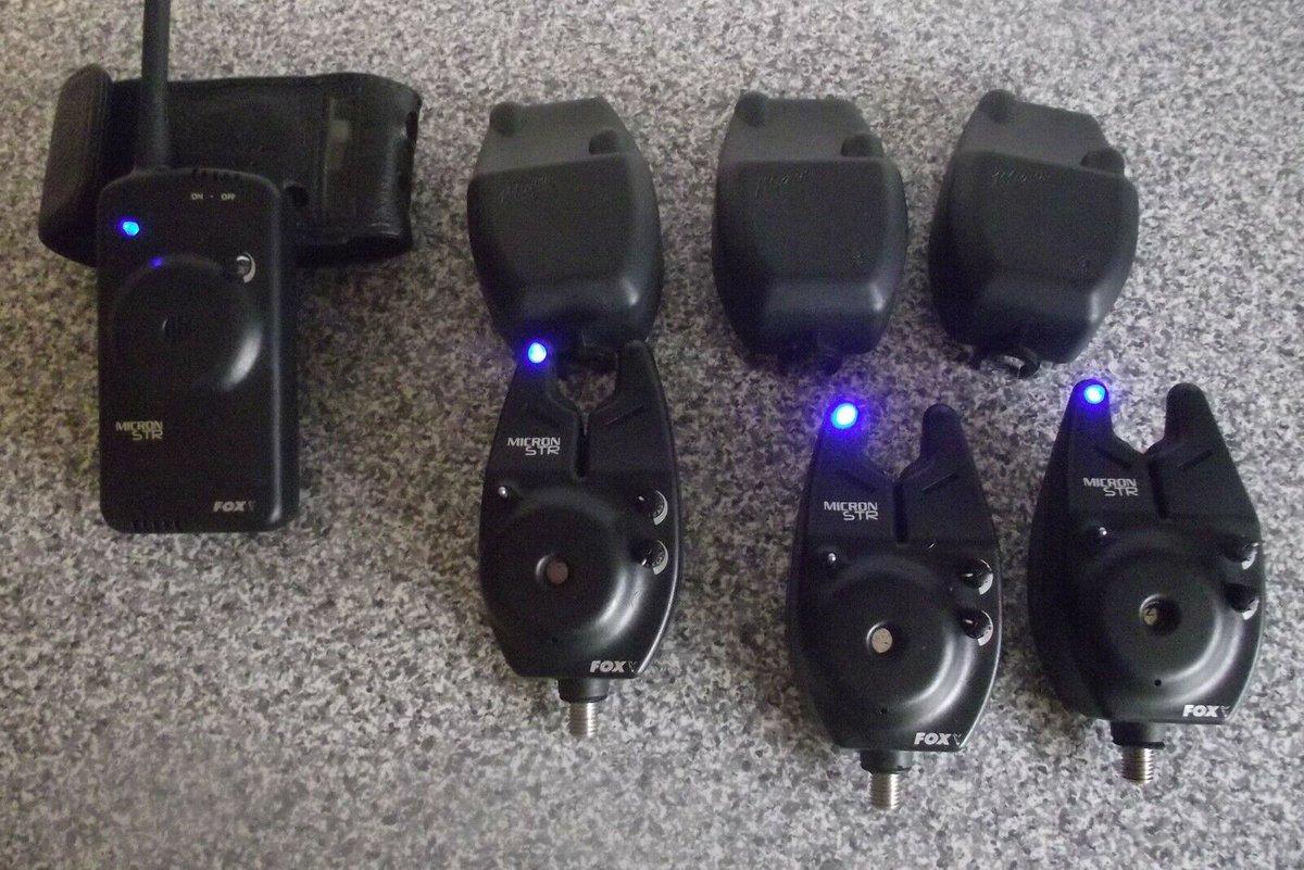 Ad - 3x Fox Micron STR  bite alarms & receiver On eBay here --> https://t.co/3YQLlKqWZO  #car