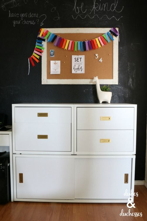 Turn your home office into a polished and #organized space with this...