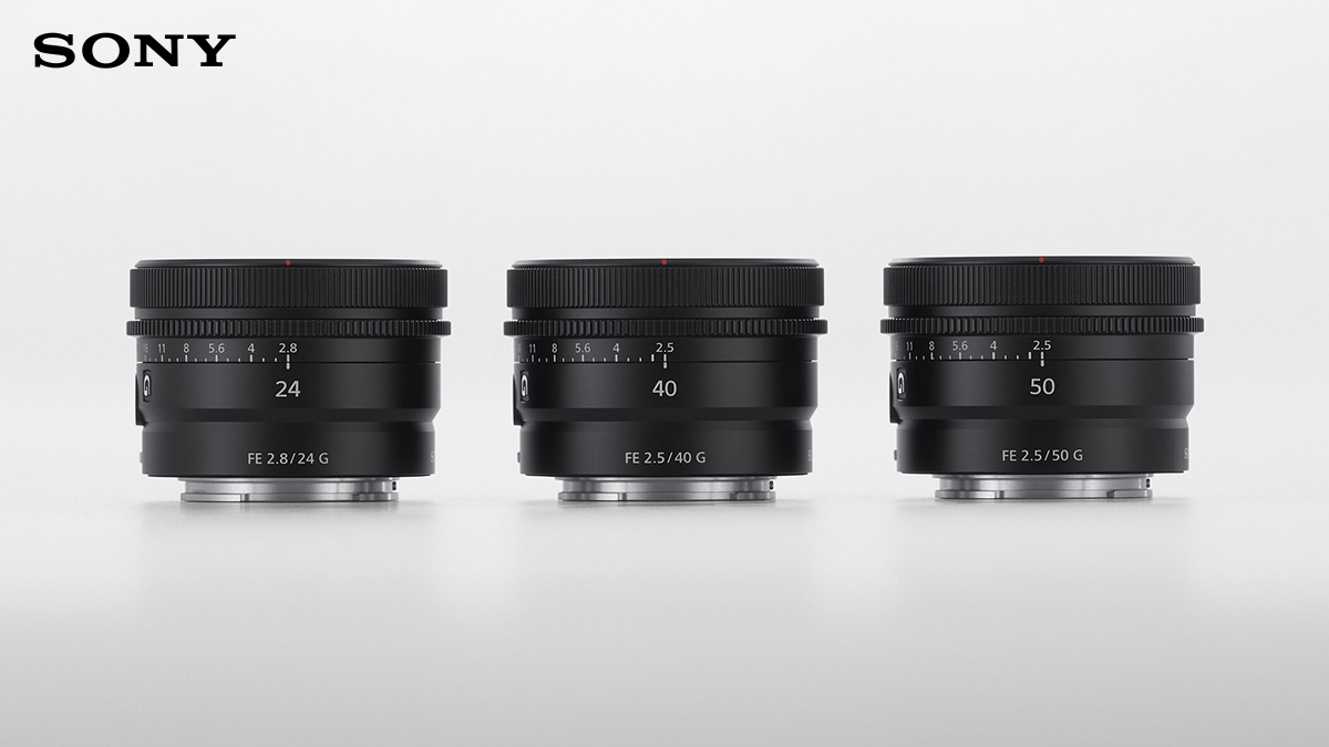 Sony's latest compact prime lenses are now available to order at Visual Impact.