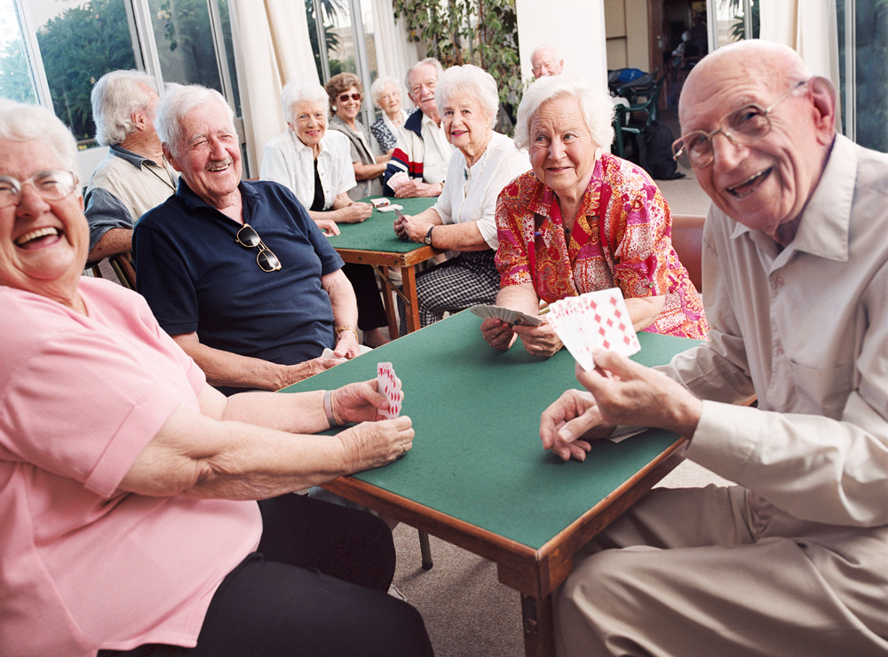 I'm in the mood to build a senior center for elders. Card tables, rocking...