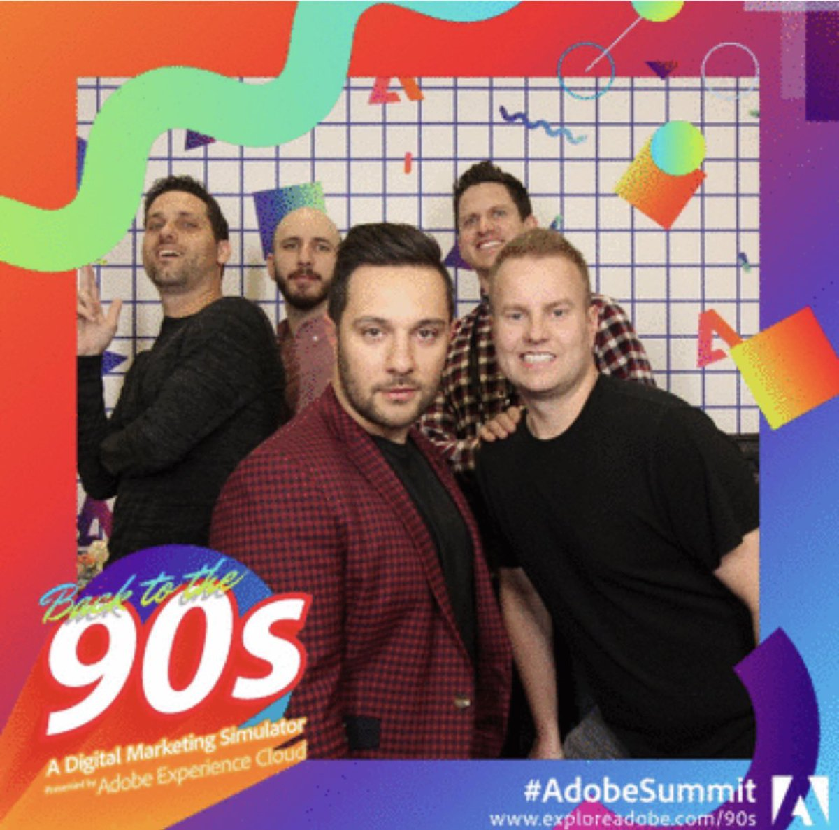 joeDmarti: Two years ago we recreated this New Kids On The Block picture at #AdobeSummit and my life has never been the same. https://t.co/3RGILfBLuj