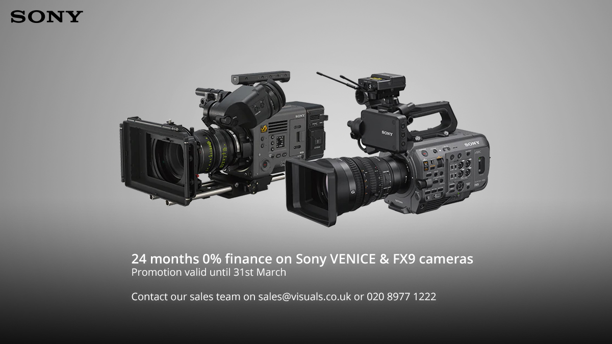 There's just one day left to take advantage of Sony's 24 months 0% finance offer on VENICE and FX9 Purchases. Contact our sales team on sales@visuals.co.uk or 020 8977 1222.