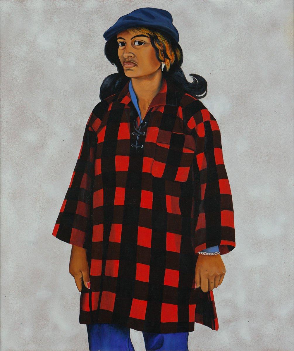 Girl in Bush shirt, 1982 by Robyn Kahukiwa, artist of Māori heritage #womensart https://t.co/zmcJNxVth9