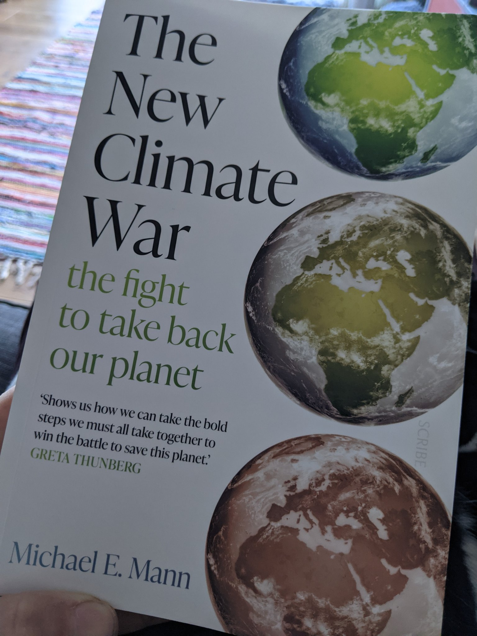Don't panic...just work very hard to save our climate because it's not too late. That's the theme of @MichaelEMann's new book, The New Climate War, which also gives a great concise history of disinformation campaigns by fossil fuel interests. Thanks so much for writing this book. https://t.co/QCn1wbVfLl