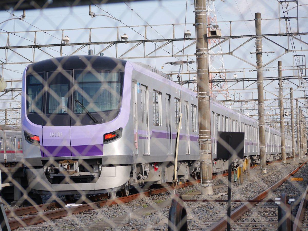 test ツイッターメディア - 東京メトロ 半蔵門線 新型車両 18000系 18101F 東武鉄道南栗橋車両管区にいるということで訪れました😸🐾 行き先表示やパンタグラフが動く様子も見られました。 2021.4.12 https://t.co/JuId2Fd4fO https://t.co/cPxmBxBmy6