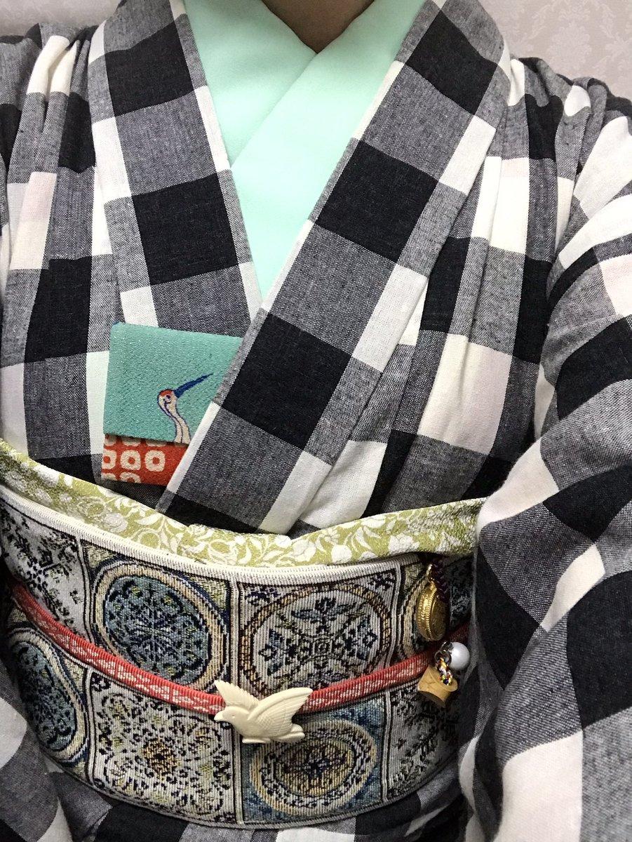 test ツイッターメディア - 今日の着物と出町ふたばさんの豆餅〜💕 https://t.co/sohWqH9pEO