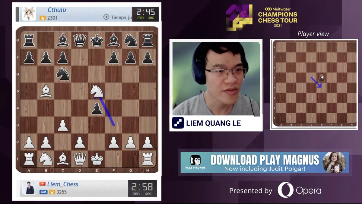 test Twitter Media - Liem Quang Le, soon to be the new Webster University chess coach, is playing Blindfold Banter Blitz now!  https://t.co/c4FFmQ1Rdq  #ChessChamps #c24live https://t.co/EQMqDSwf1Z