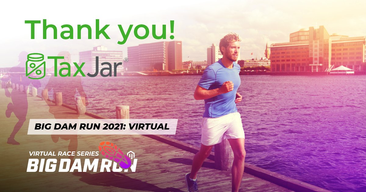 bigdamrun: Thank you @TaxJar! We're so grateful for this partner's support for our 10th Annual Big Dam Run 5K! #race #BDR2021 https://t.co/yQxJnsnu1Q