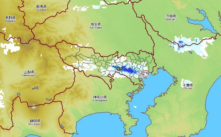 test ツイッターメディア - けっこう降ってるー!アメッシュ見てたから洗濯物が濡れないですみました。 2021/04/08 18:05の東京の雨模様です。 #東京アメッシュログ https://t.co/pTm4zhXTTR