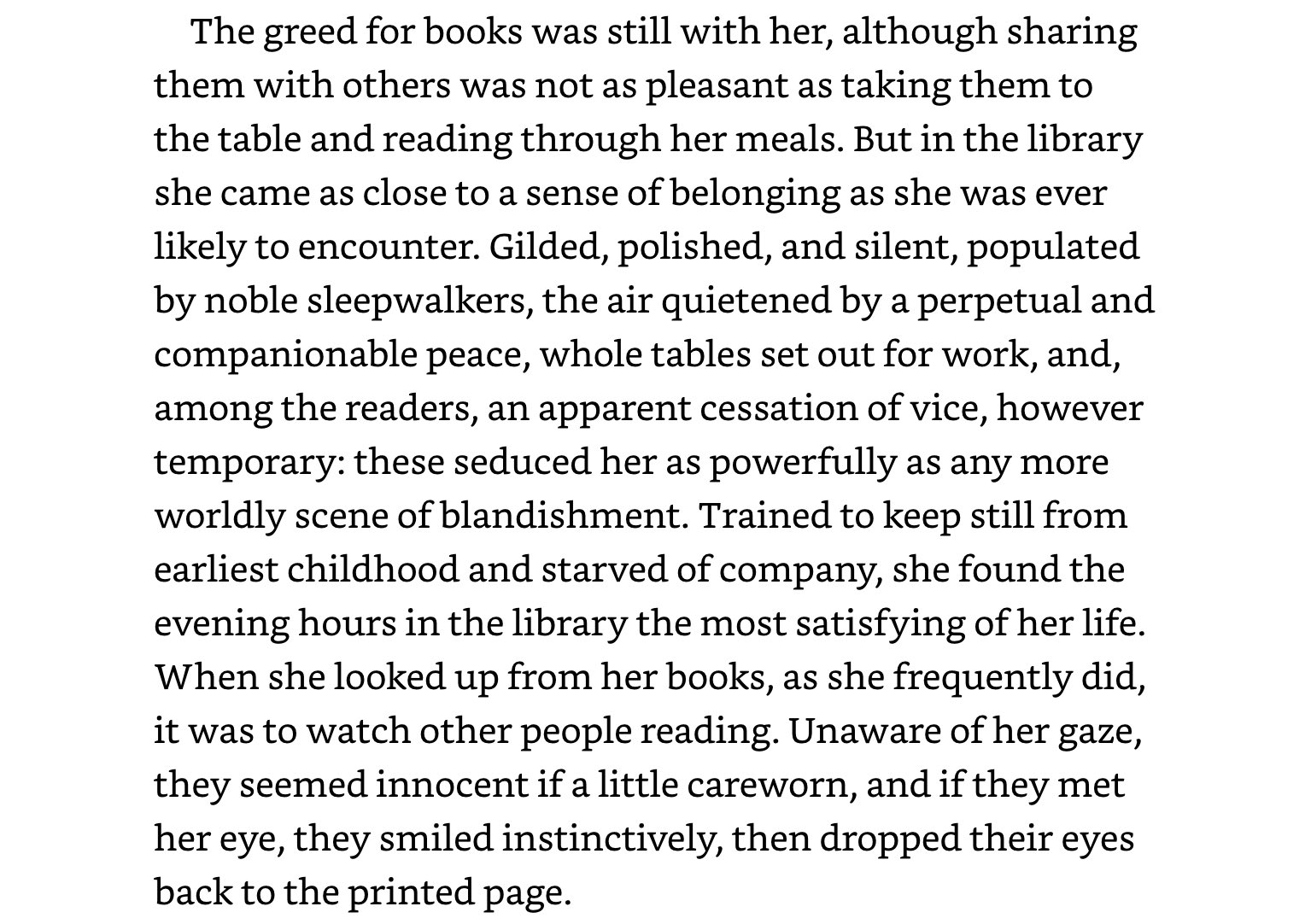 This beautiful passage from 'A Start in Life' by Anita Brookner made me miss libraries: https://t.co/GfXSavpAHG