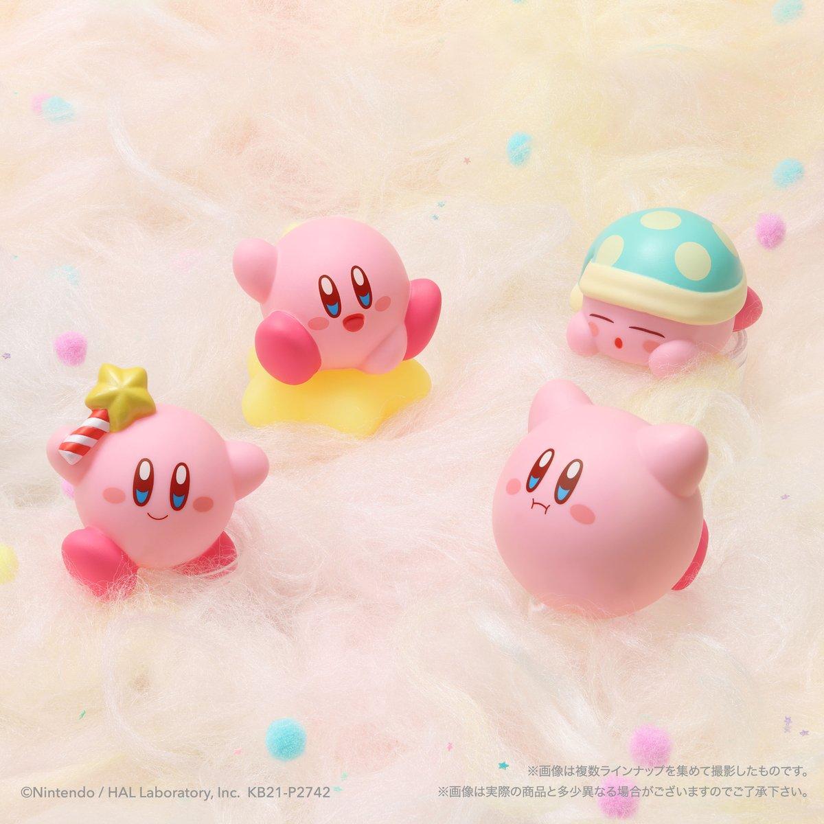 test ツイッターメディア - / 4月12日(月)全国のお菓子売場等で発売! \ 手のひらサイズの本格ソフビフィギュア 「星のカービィ Kirby Friends」がお菓子売場に登場! ワープスターはレアカラーVer.があるよ。 当たったらラッキー☆ 各270円(税込価格297円)  https://t.co/MyV6YOMwyQ  #星のカービィ #カービィ https://t.co/jO33Oyhy9J