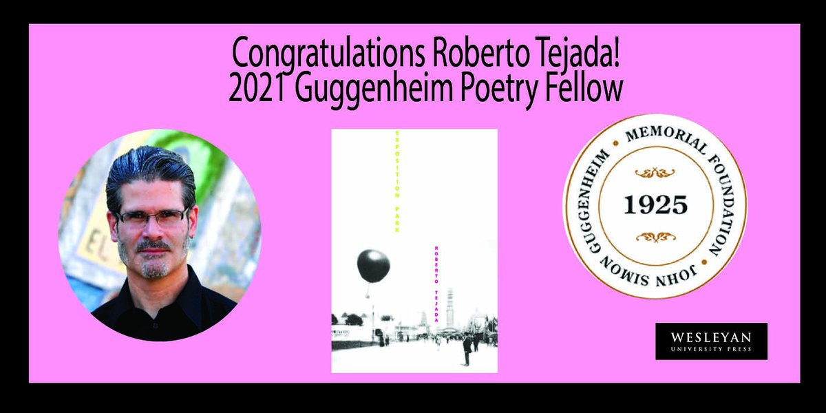 "test Twitter Media - Congratulations to Roberto Tejada, author of ""Exhibition Park"" and recipient of a 2021 Guggenheim Poetry Fellowship!  Read more here: https://t.co/ePVyQqPpN7 #GuggenheimFellows #RobertTejada #ExhibitionPark #poetry https://t.co/MHJQuCkLTj"