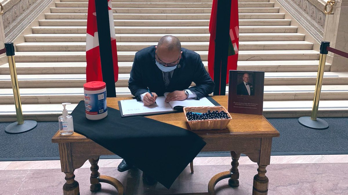 test Twitter Media - Had the opportunity to sign the book of condolence along with fellow Members of the Legislative Assembly to extend our heartfelt condolences to Her Majesty Queen Elizabeth and all members of the Royal Family. Rest in peace Prince Philip and thank you for your service Admiral. ⚓️ https://t.co/Y5mQQAQjd2