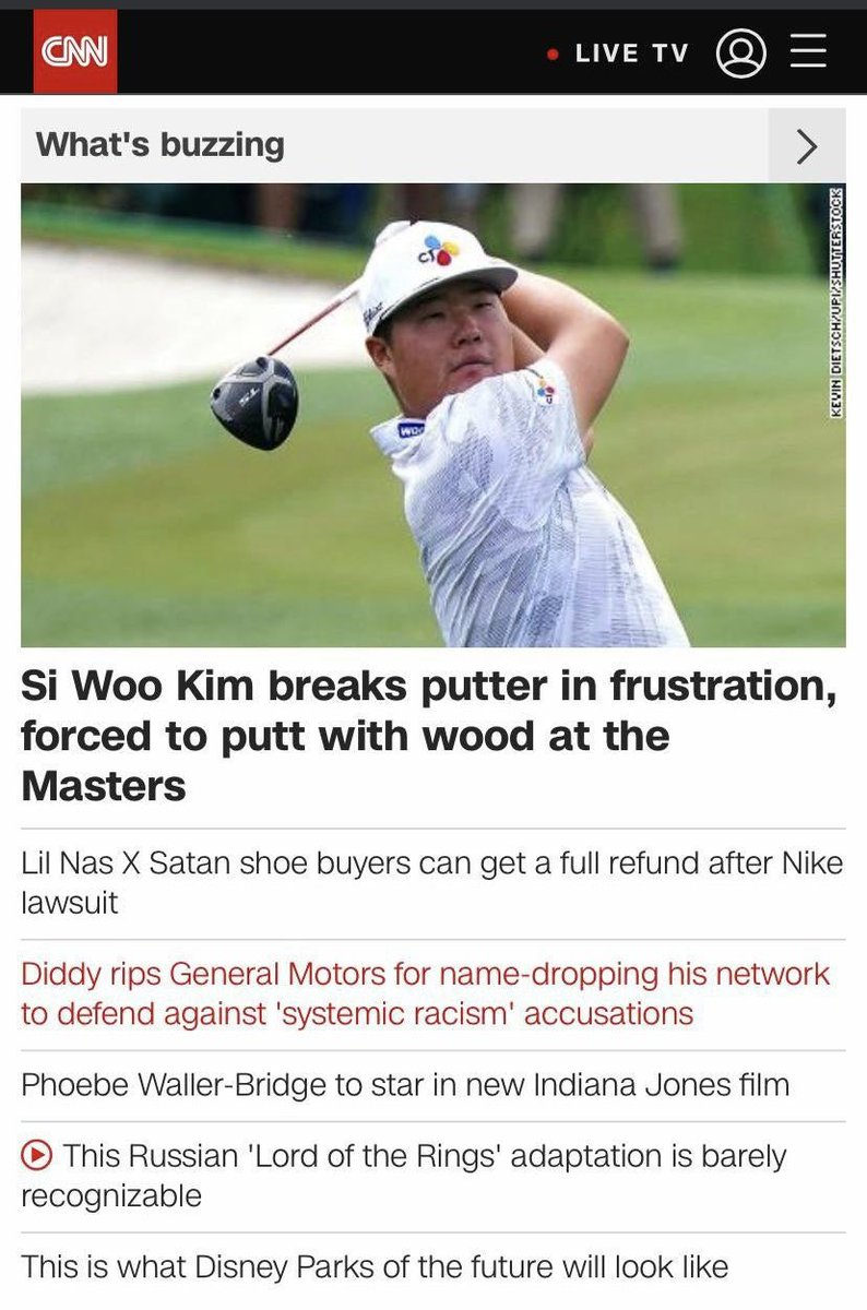 CNN used a photo of the wrong Asian golfer in a story today ...