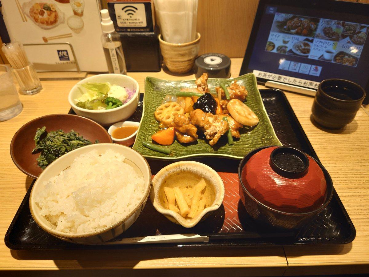 test ツイッターメディア - 駅前の大戸屋へ。 ご飯を五穀米に変更するの忘れてた(´×ω×`) https://t.co/2Le1sNjBet