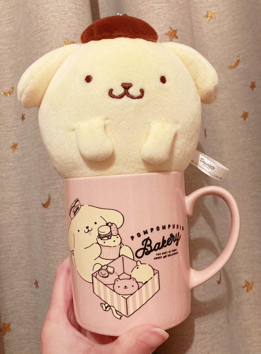 test ツイッターメディア - キディランドでは、マグカップ何個もあるのにこのくすみピンクが可愛すぎて買ってしまいました🤦♀️頂いたまんまるぽむがちょうどフィットする大きさです🍮💕#ポムバサダー #ポムポムプリン https://t.co/1HyKlamoHh