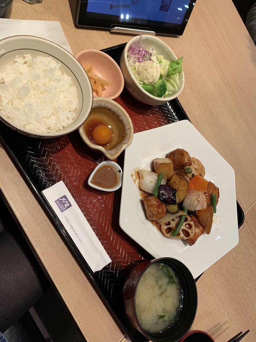 test ツイッターメディア - 今日大戸屋で夕ご飯(・д・。)(っ*´◯`)っあ∼ん♡ https://t.co/xS219zG69C