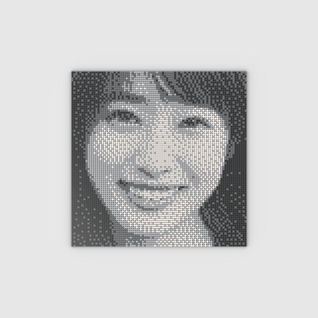 test ツイッターメディア - LEGO Art Mosaic Maker レゴ アート モザイク メーカー 87×87 Pixel Art ドット絵 高橋ひかるさん https://t.co/LIHDIdFaQP