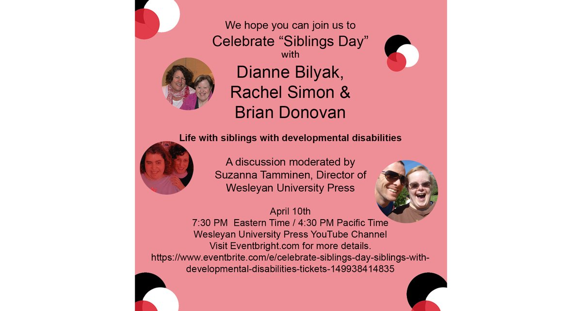 test Twitter Media - Happy Siblings Day! Join Dianne Bilyak, Rachel Simon & Brian Donovan, discussing life with siblings with developmental disabilities—both the heartwarming and the humorous. https://t.co/yUmNuQDGwp @GDSFoundation @MyDSACT @DSAInfo #NationalSiblingsDay #downsyndrome #caregiver https://t.co/3E4eGbaJTJ