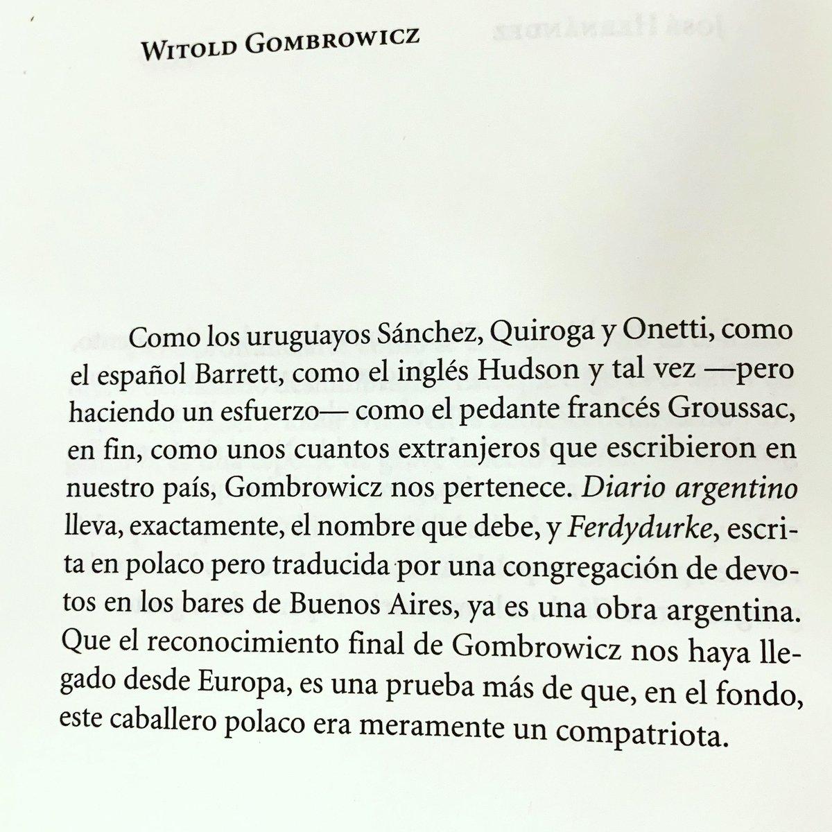 #AbelardoCastillo sobre #Gombrow