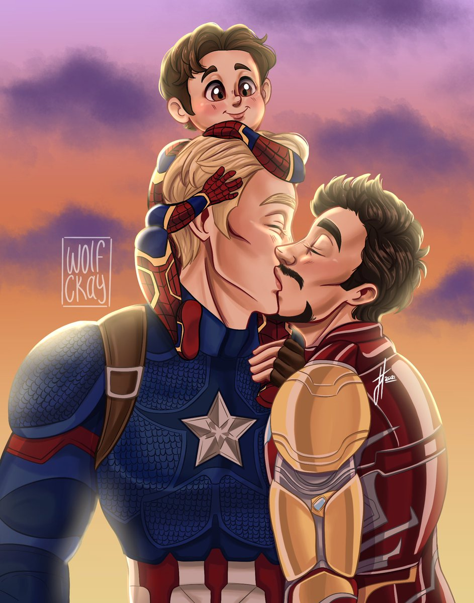 There's no enough superfamily content in this fandom 😔 #stony #stevetony #superfamily