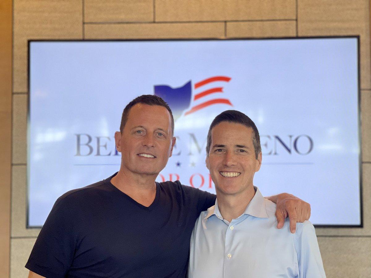 I'm all in to help elect @berniemoreno to the U.S. Senate from Ohio.