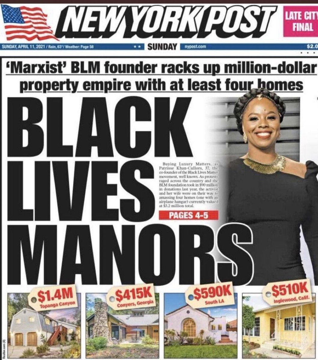 If only more media was willing to punch up like the New York Post. #BlackLivesManors