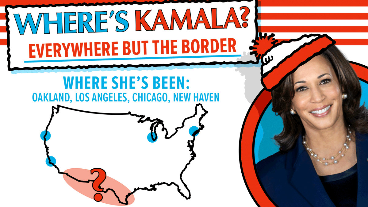 Where is Kamala?   (hint: still not at the border)