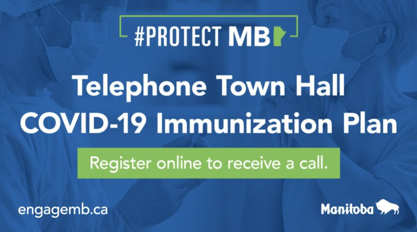 test Twitter Media - Register today to receive a call to join one of two upcoming telephone town halls with myself, Dr. Reimer, Dr. Roussin and Johanu Botha to discuss the #Covid19MB Immunization campaign. Learn more at https://t.co/RK7Uwui9im #ProtectMB https://t.co/8RhgHV3CVO