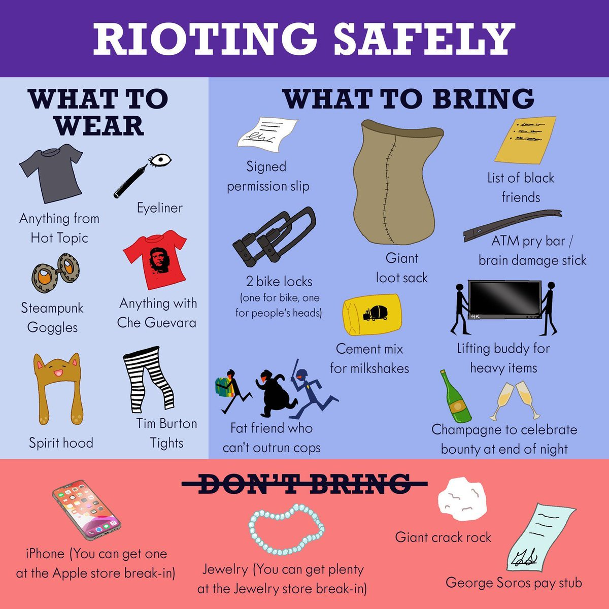 Remember 👏 to 👏 riot 👏 safely 👏