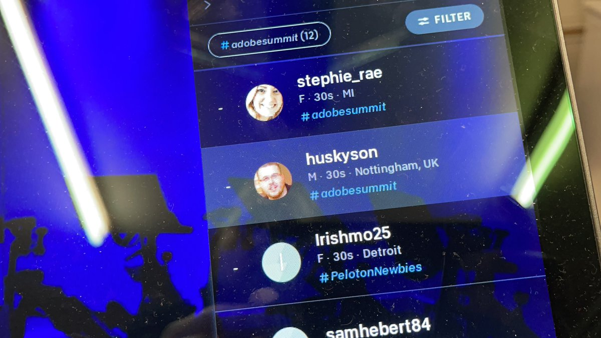 jhuskisson: Ready for the live #AdobeSummit @onepeloton 80s ride! /cc @AdobeSummit https://t.co/1x1Y15RbeY