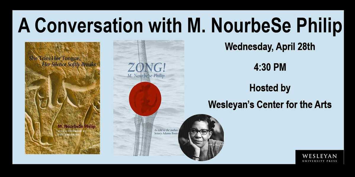 """test Twitter Media - """"A Conversation with M. NourbeSe Philip"""", in @WesCFA's Into the Deluge series. Wed, Apr 28, 4:30 PM ET. Register: https://t.co/LTvz4Lq7BM #MNourbeSePhilip #WesleyanCFA #IntotheDeluge #poetryevents #remoteevents #CandadianPoets #CaribbeanPoets #waterislife #earthdayeveryday https://t.co/RLQJF2KLQa"""