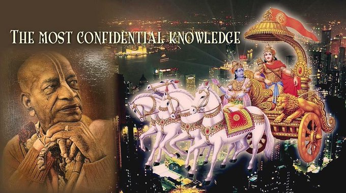 The most confidential knowledge (video)Bhagavad Gita class by HH Bhaktimarga Swami in ISKCON Ala....