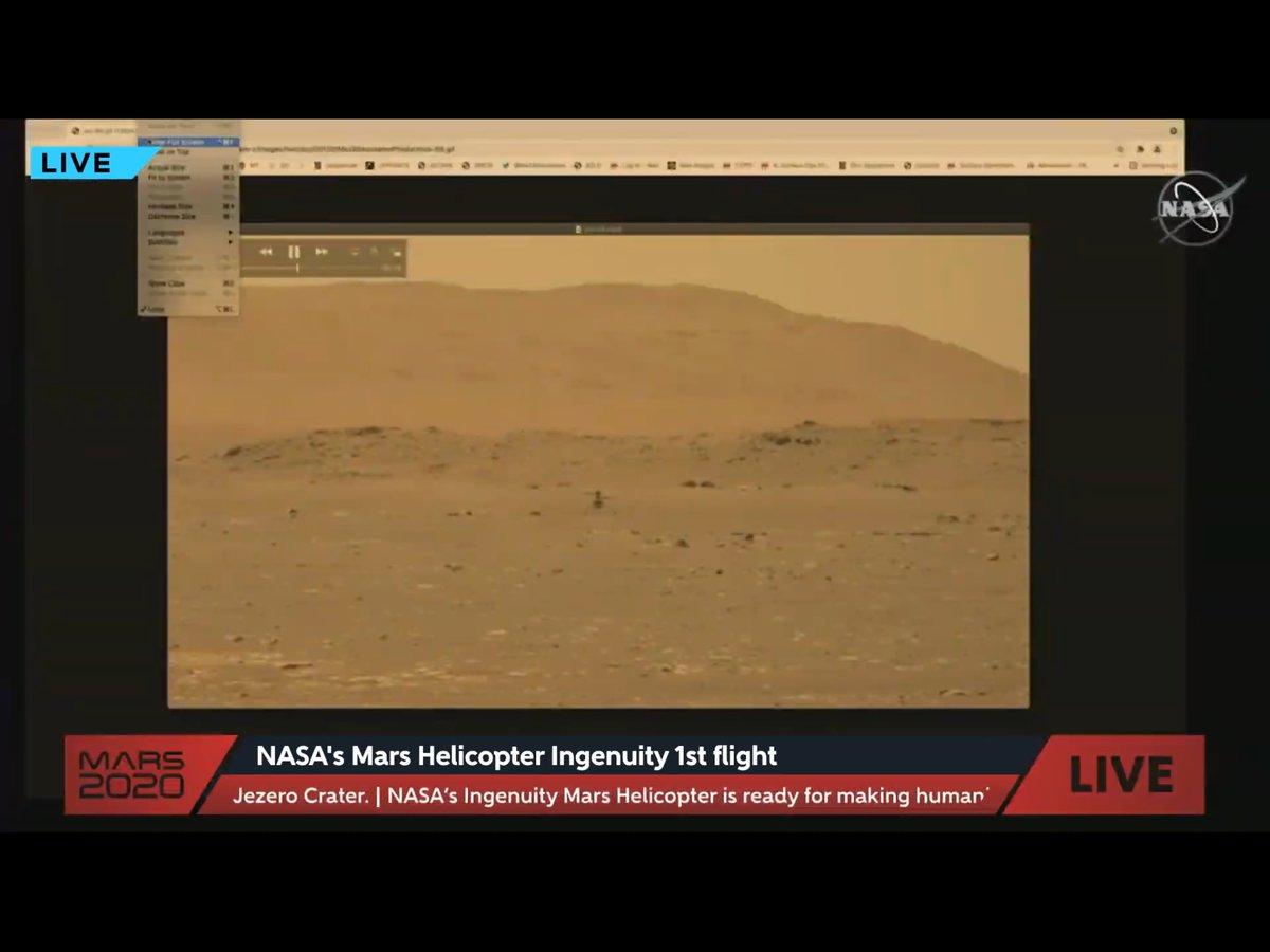 test Twitter Media - Wat een historisch moment: zojuist voor het eerst een door mensen bestuurde vlucht op een andere planeet door  #Ingenuity van  #nasa op 3 meter hoogte op Mars. De foto's hieronder uit de livestream. En natuurlijk meteen ideeen voor lessen met ICT en maakonderwijs #historyismade https://t.co/rZfXtvaQz7