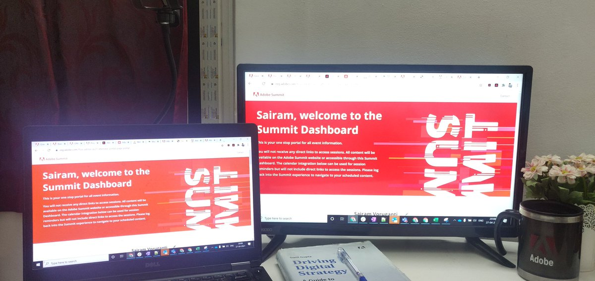 sairamovr: All set and super excited for the Virtual sessions #MakeExperienceYourBusiness  #AdobeSummit https://t.co/NKhtXlxb9a