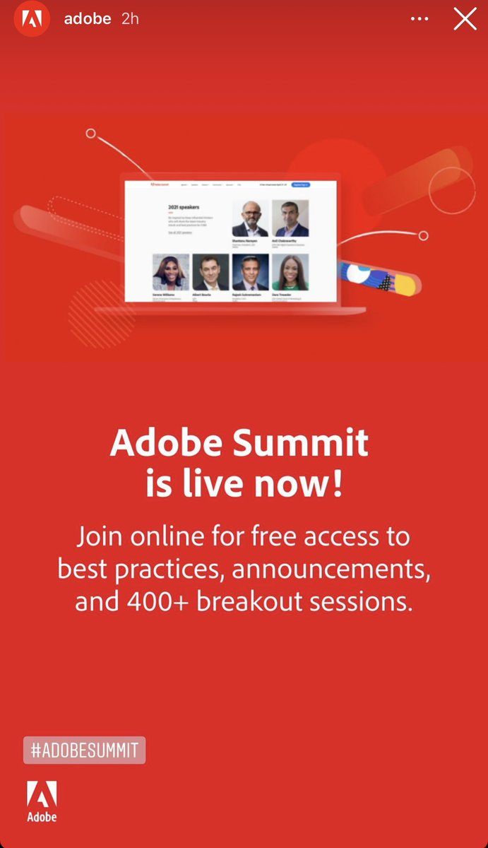iterativearch: Looking forward to seeing the latest with #adobe @AdobeSummit 🙌🏼 https://t.co/JaPhFBxaq8