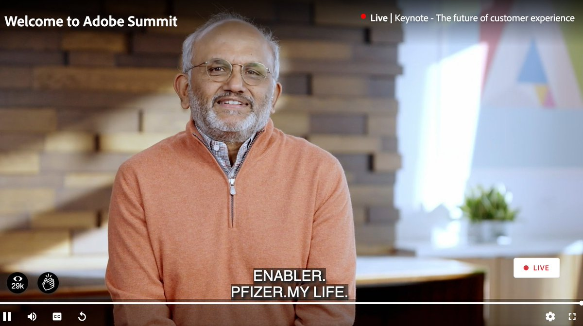 blueacornici: Word associations with @pfizer - we're not crying, you're crying @AdobeSummit #AdobeSummit https://t.co/m5RUf2tV73