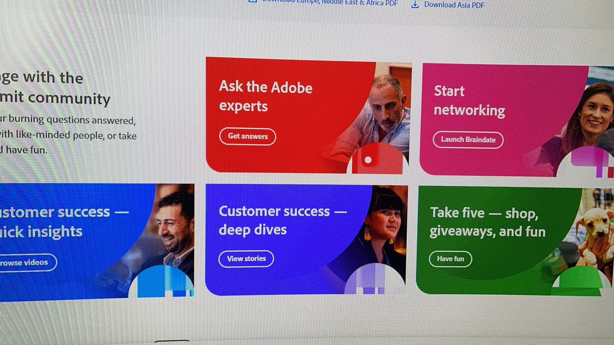 """pinofilice: Proud that there is my photo for """"Ask the Adobe Expert"""" #adobe #AdobeSummit https://t.co/LLjHnkFmp0"""