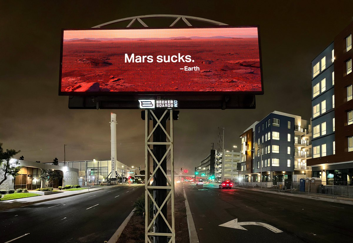 What doesn't suck? #earth But the way we treat it frankly, sucks. And then, you dream of #mars. A hellhole. A barren, desolate, wasteland you can't set foot on fast enough. Great, we got to Mars. Now let's #prioritizeearth #marssucks #earthday #ElonMusk https://t.co/7bkybArErU