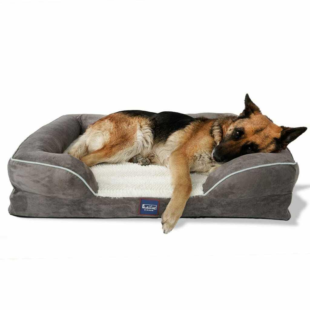 [$69.92] Laifug Large Dog Bed Orthopedic Memory Foam Dog Couch $69.92...