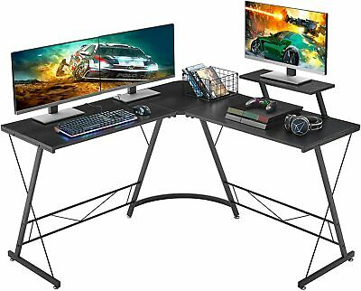L-Shaped Desk Computer Corner Home Office Gaming Table Space Saving Furniture...