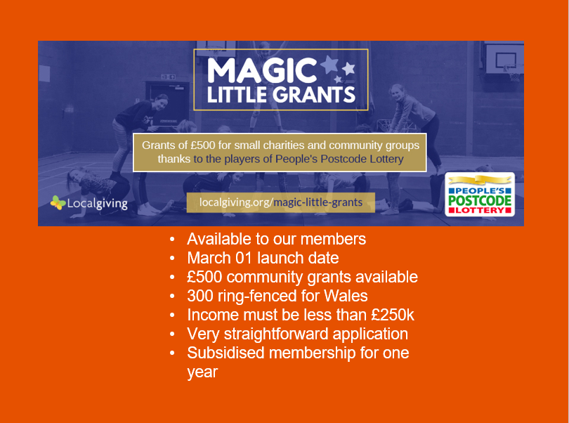test Twitter Media - Localgiving has 150 Magic Little grants to make by the end of the month to small organisations in Wales, and are keen to make that target. Groups receive £500 as well as a LocalGiving membership. Learn more here: https://t.co/lqTvHxDTgB #RCT #communitydevelopment https://t.co/GNwtIlNQWl