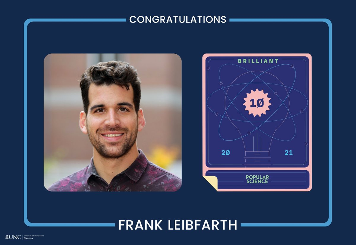 ".@ unchemistry的Frank Leibfarth被选中加入@PopSci的2021年""10大天才""名单. @Frank_Leibfarth因其移除PFAS的创新方法而获得认可, 或""永远的化学物质,来自足球外围官网登录州的水资源➡️http://t.co/ed7uCaw23j # UNC http://t.c…"