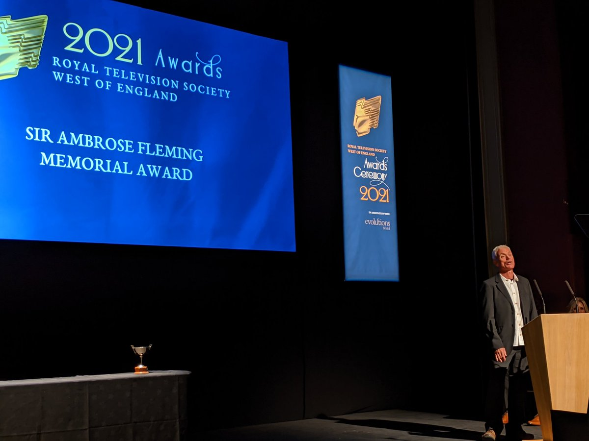Thank you @RTS_Bristol for the honour of recieving the Sir Ambrose Fleming Award! Congratulations to all the nominees and winners tonight! https://t.co/oSxHOQ6Ozv