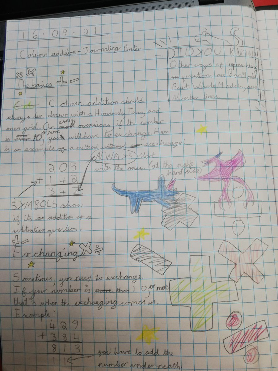 test Twitter Media - Our curriculum is based around regularly checking what children know and remember. Look at this wonderful journal entry from year 4 as they explain understanding of column addition. https://t.co/FUrokgaqNy