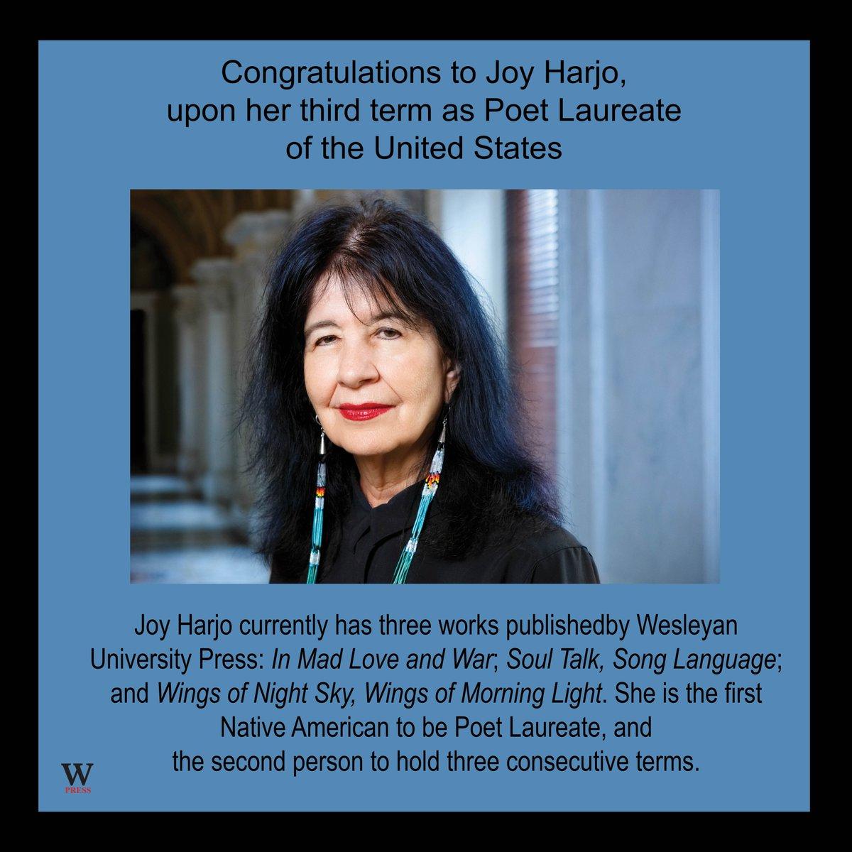 test Twitter Media - Congratulations to Joy Harjo, who is entering her third term as Poet Laureate of the United States. #PoetLaureate #AmericanPoetry #NativePoetry #NativeTheater #AmericanTheater @JoyHarjo @librarycongress https://t.co/4NAALZ3EKz